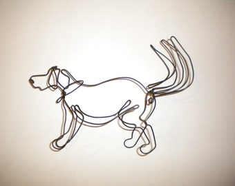 Wag!--3-D  steel wire sculpture