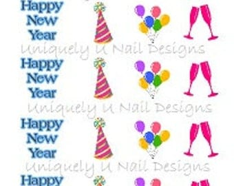Happy New Year! Nail Decals