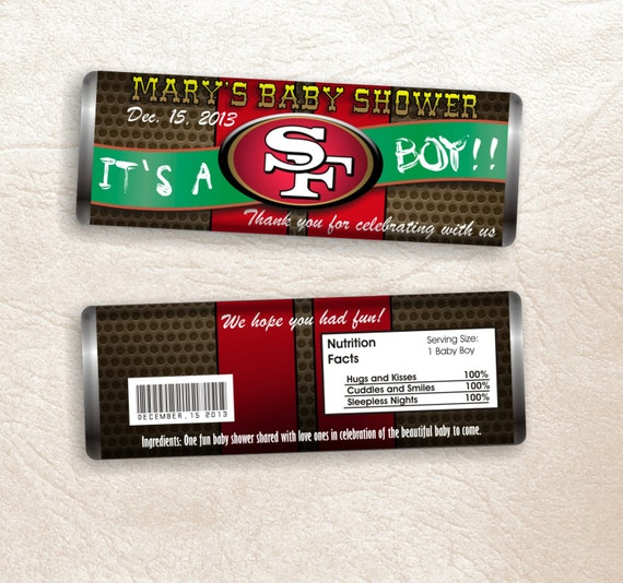 San francisco 49ers boy baby shower by ssscreativedesigns for 49ers bathroom decor