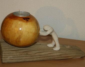 candle holder, OOAK
