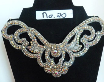 Rhinestone and Beaded  Finished Applique