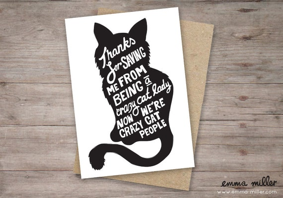 Funny Valentines Day card.  Crazy cat lady. funny Valentines cat card