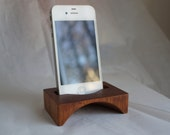 Carved solid Mahogany  iPhone speaker.  Iphone Speaker as good as it sounds. Fits in your pocket or purse for battery-free sound.