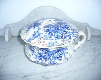 Antique ''Bidet / pot de chambre'' Porcelain Transfer Ware England – circa 1900