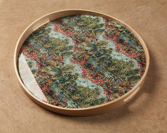 Top in fabric Liberty landscape of Lake and resin Crystal