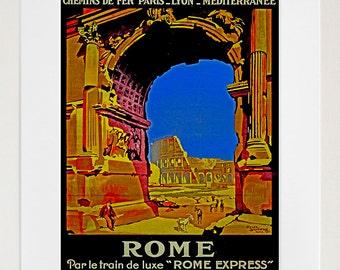 Rome Travel Art Print Vintage Roman Home Decor Poster (ZT129)