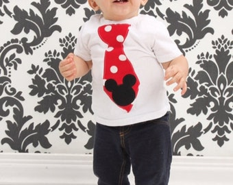 Mickey Mouse, Tie Shirt.