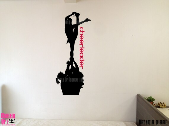 Unavailable listing on etsy for Cheerleader wall mural
