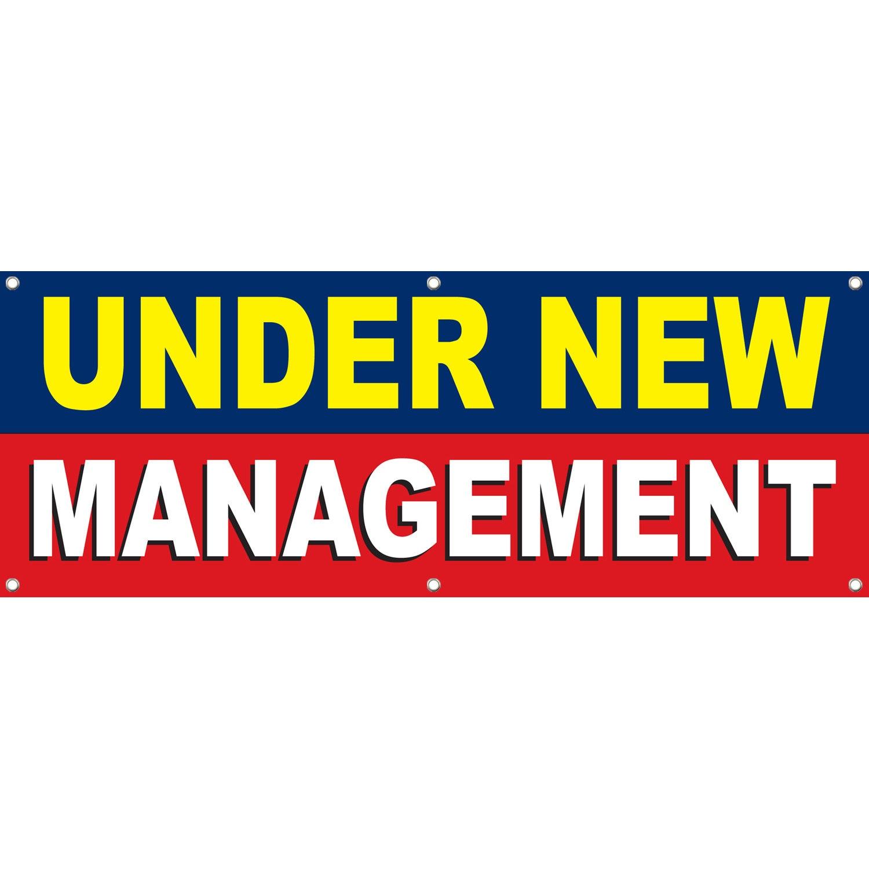 Under New Management Vinyl Banner Sign