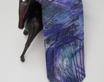 Vintage  purple blue Necktie