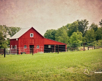 Barn in the Country | Canvas, Various Sizes| Made to Order