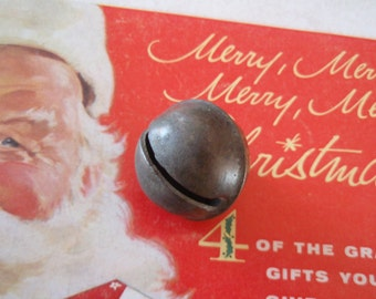 Very Cool Old Rustic BRASS Large Jingle BELL Rich Patina. L411