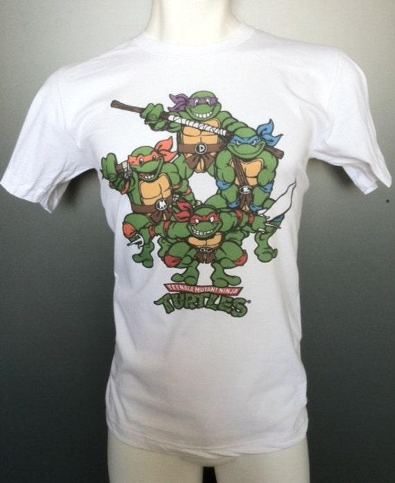 Teenage mutant ninja turtles t shirt new vintage style classic for Where can i buy ninja turtle shirts