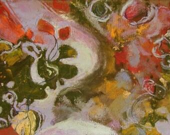 Swirls 5 x 7 pastel study