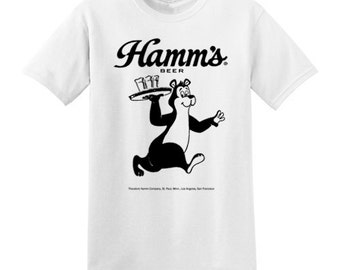 Hamm's Beer t-shirt new vintage style bear XS-3XL mens or ladies