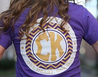 Sigma Kappa Chevron American Apparel Tshirt