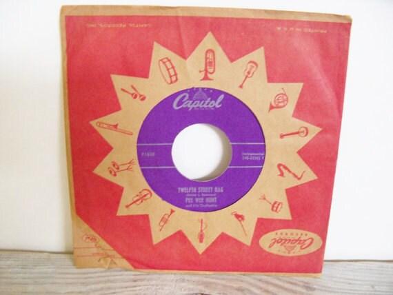 Pee Wee Hunt 12th Street Rag Antique 45 Record 1948