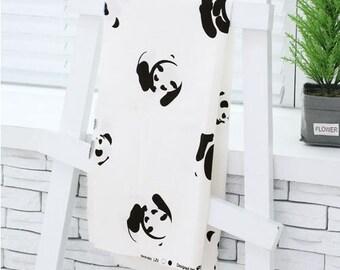 Baby Panda Simple Pattern Oxford Fabric