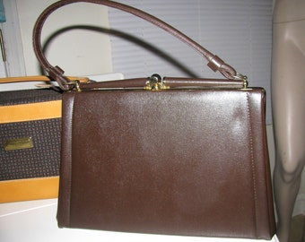 NEW!  70s! KELLY brown bag Purse