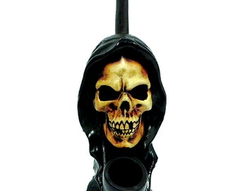 Tobacco Hand Made Pipe, Death Reaper Design