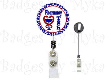 Retractable ID Badge Holder - Pharmacy Tech