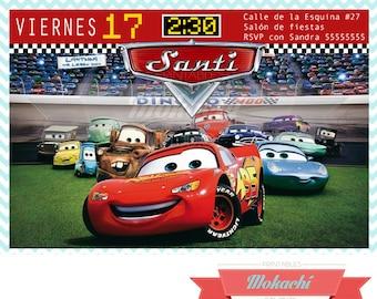 Cars 2 Birthday Invitation