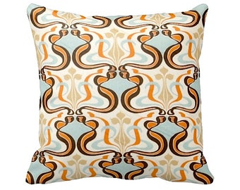 7 Sizes Available: Retro Pillow Cover Orange Throw Pillow Cover Decorative Pillow Mid Century Modern Burnt Orange Pillow Cover Accent Pillow