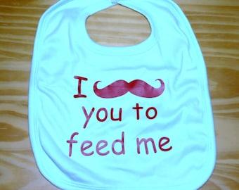 Mustache Baby Bib, Mustache, Moustache, Baby Shower Gifts