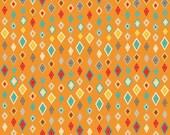 Riley Blake Boy Crazy Diamond in Orange - My Mind's Eye Design - Boy Fabric - 1 yard