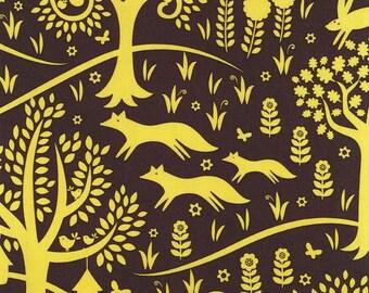 UK Shop: Norwegian Woods Foxtrot Citron Michael Miller Cotton Fabric