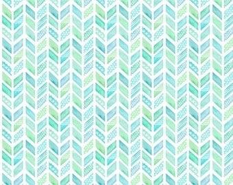 Watercolor chevron aqua sheet boppy changing cover