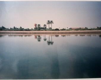 ORIGINAL PHOTOGRAPH MOROCCO Marrakech 1980 / Pond / color / 14 x 11 by elsellu