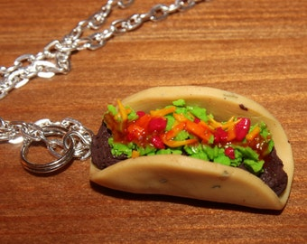 Taco Necklace (polymer clay)