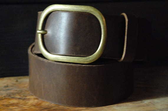 leather hip belt 2 inch wide leather belt brown by