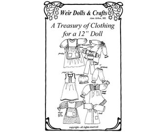 "12"" Waldorf Doll Clothing Patterns"