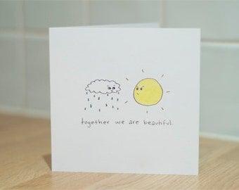Sun and Rain Card