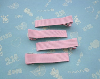 Sale--20 pcs girl hair clips - satin hair clips - girl barrettes