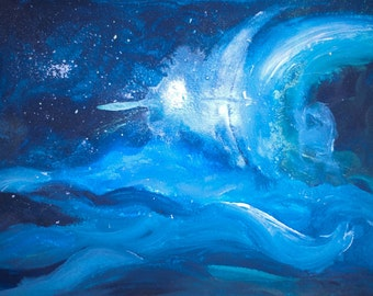 Blue Pearl-Abstract Paintings of the Earth and the Cosmos-Signed Limited Edition Archival Giclée