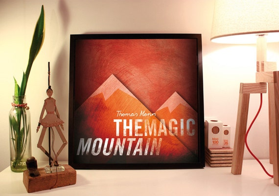 Magic Mountain. Thomas Mann. Wall decor art. Illustration. Digital print. Book. Poster. 19,69 x 19,69 inch