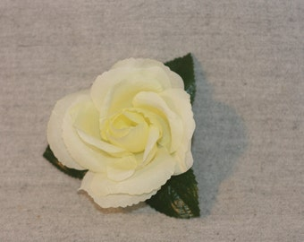 White rose hair clip **FREE SHIPPING** within United States