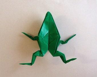 Origami Frog Brooch