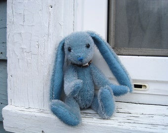 Aqua Blue Mohair Rabbit