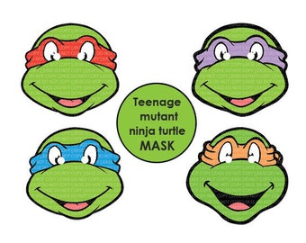 INSTANT DL- Teenage Mutant Ninja Turtles MASK - Printable Birthday party