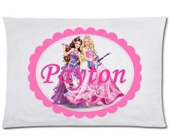 Girls Barbie Bedding Barbie Pillowcase Personalized