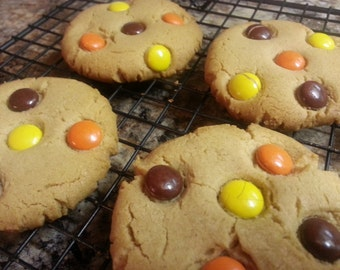 Reeses Pieces Peanut Butter Cookies  1 Dozen Gourmet melt in your mouth