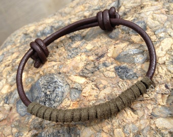 FREE SHIPPING-Mens Leather Bracelet,Leather Bracelet,Bracelet Men,Mens Suede Bracelet,Adjustable Bracelet,Mens leather Bracelets