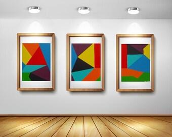 popular items for geometrische kunst on etsy. Black Bedroom Furniture Sets. Home Design Ideas