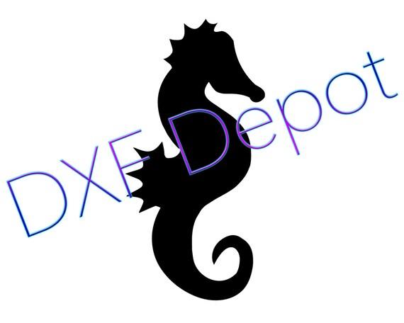 Format dxf de hippocampe dessin de cnc cut file vector - Dessin dxf gratuit ...