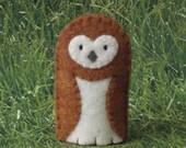 Barn Owl Finger Puppet - Felt Owl Finger Puppet - Felt Owl Puppet - Felt Finger Puppet Owl - Bird Finger Puppet - Barnowl
