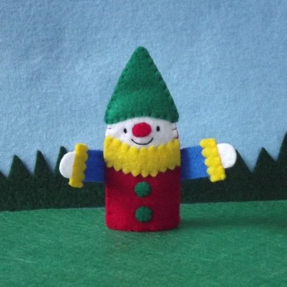 Happy Clown Finger Puppet - Clown Puppet - Circus Party - Circus Puppet - Finger Puppet Circus Clown